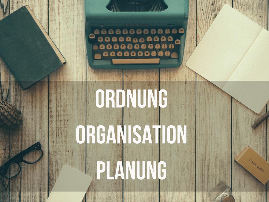 Nischenseite Ordnung Organisation Planung