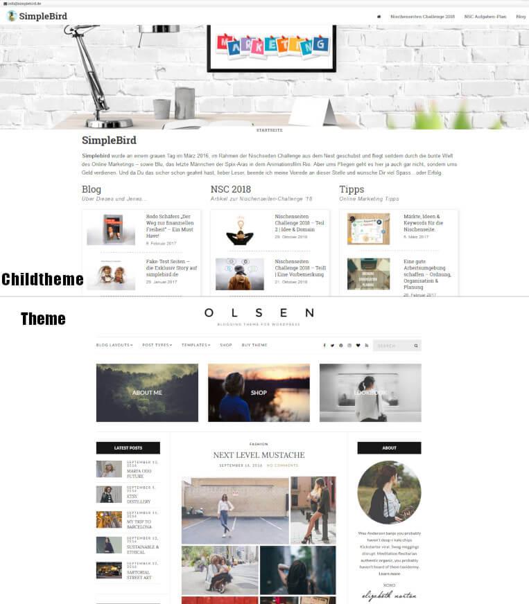 Olsen Theme & mein ChildTheme