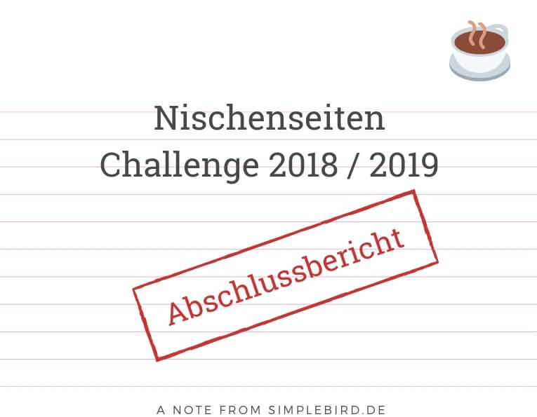 Nischenseiten Challenge 2018 Abschlussbericht